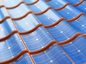 flexible solar panels molded to roof shingles
