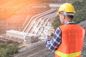 Worker using virtual power plant